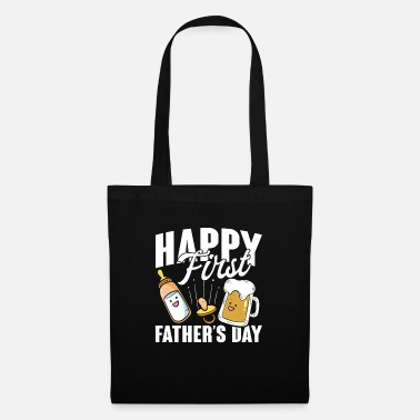 Daughter Happy First Father's Day - Tote Bag
