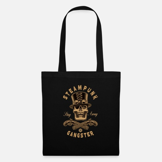 Gift Idea Bags & Backpacks - Steampunk gangster with weapons cyber punk gift - Tote Bag black