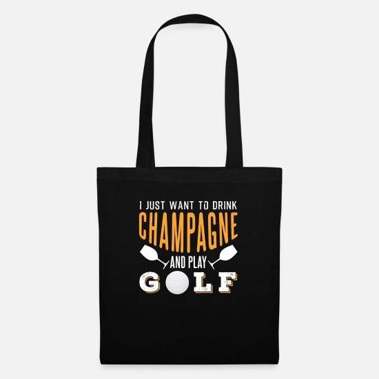Chic Bags & Backpacks - Champagne and golf - Tote Bag black