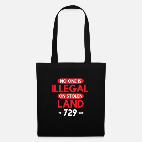 Tribal Bags & Backpacks - Cool No Illegals On Stolen Land Western gift - Tote Bag black