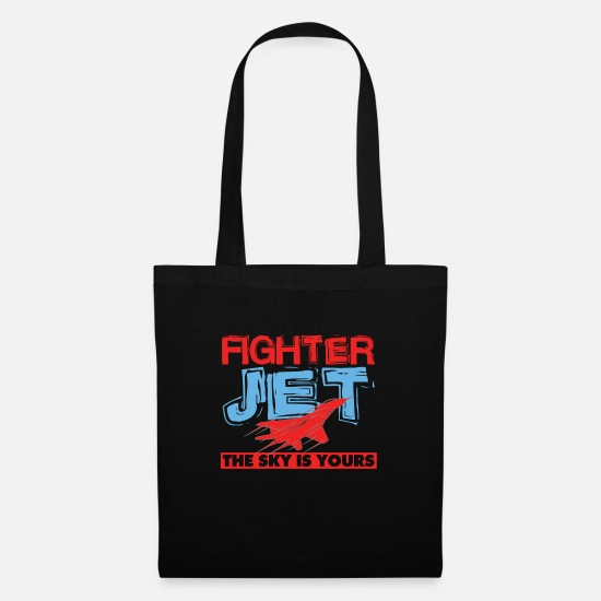 Off Bags & Backpacks - Cool Fighter Jet The Sky Is Yours Air Force gift - Tote Bag black