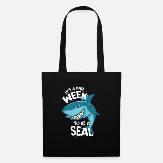 Natur Tasker & rygsække - Weekend Seal Shark Funny Food Sea Gift - Mulepose sort