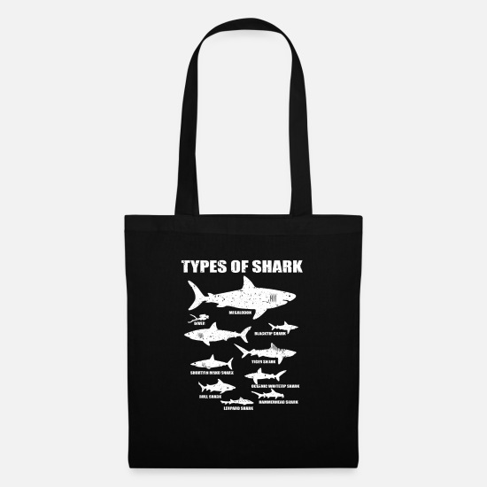 Fishing Bags & Backpacks - Shark Fan Nature Types Funny Diver Tiger Gift - Tote Bag black