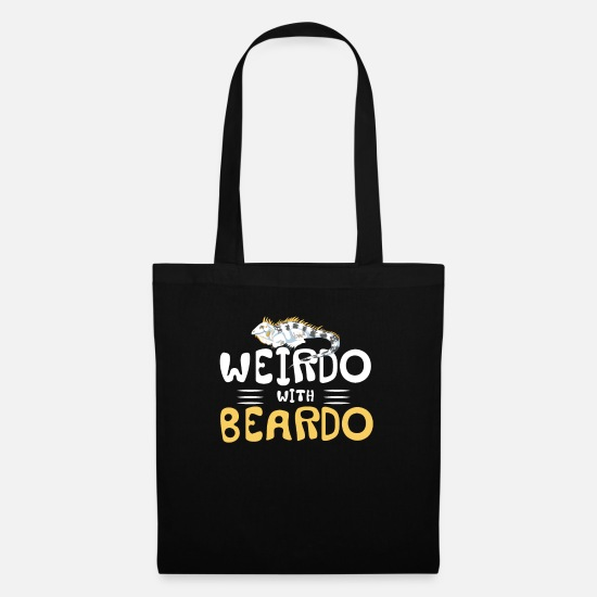 Toad Bags & Backpacks - Funny Weirdo With Beardo Chameleon Lizard gift - Tote Bag black