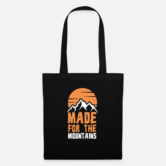 Landscape Bags & Backpacks - Cool Made For The Mountains Landscape gift - Tote Bag black