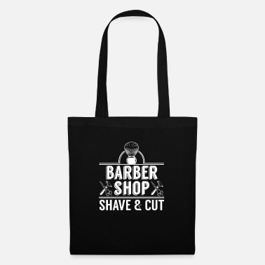 Barber Shop Cool Barber Shop Shave And Cut Logo Haircut gift - Tote Bag