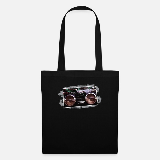Boom Box Bags & Backpacks - Retro boombox old school cool culture - Tote Bag black