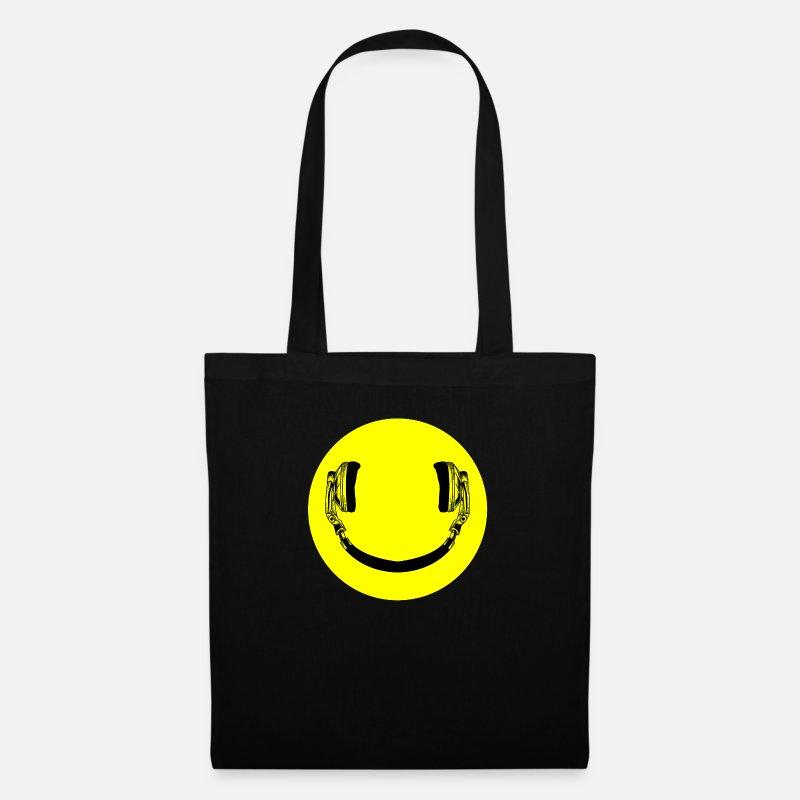 Les Amateurs De Musique Emoticone Casque Smilie Sac En Tissu Spreadshirt
