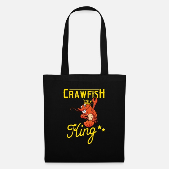 Independence Day Bags & Backpacks - crawfish king food lover shirt - Tote Bag black