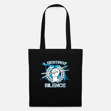Professionals Destroy Silence Drumming Gift Print Drum Love - Tote Bag