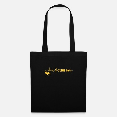 Rock Climbing Cool Climb On Rock Climbing Gift Climber - Tote Bag
