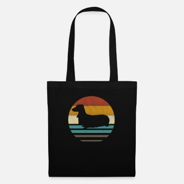 Long Hair Long haired Dachshund retro vintage - Tote Bag