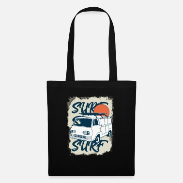 Vintage surfer van design for surfers and adventurers - Tote Bag