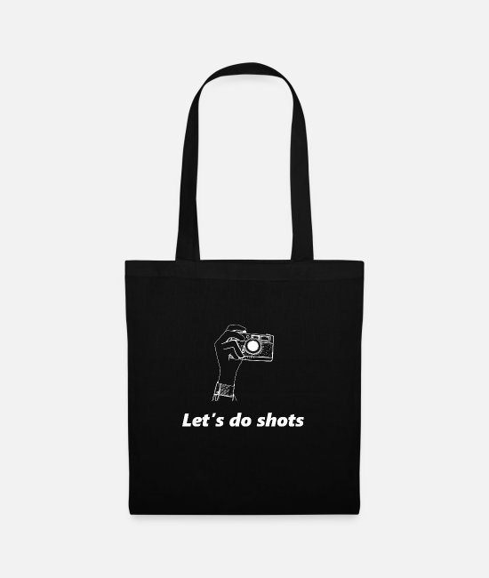 Love Bags & Backpacks - Photography Lovers Camera Photographer Funny Gift - Tote Bag black