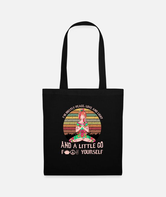 Bless You Bags & Backpacks - Yoga yoga class yoga teacher mediation gift - Tote Bag black
