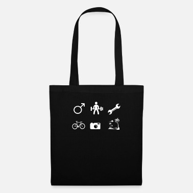 Labour Men sport bike photos vacation - Tote Bag