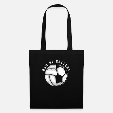 Baller Dad Of Ballers Volleyball Soccer T Shirt Dad Of Ba - Tote Bag