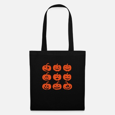 Pumpkin Emoji Faces v2 - Tote Bag