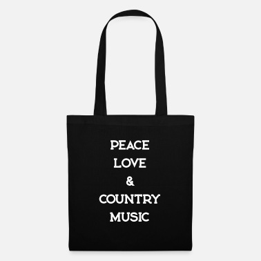 Countrymusic PEACE LOVE COUNTRYMUSIC - Tote Bag