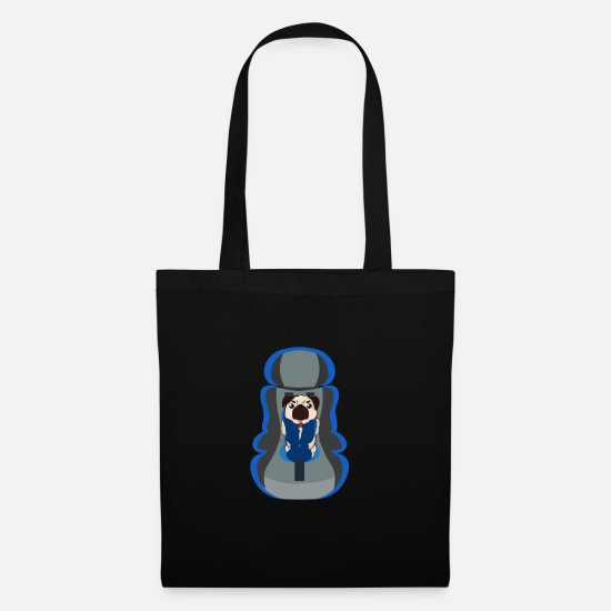 Gift Idea Bags & Backpacks - Pug carrier - Tote Bag black