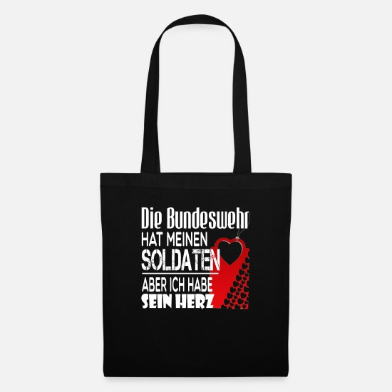 Love Bags & Backpacks - The Bundeswehr has my soldiers - Tote Bag black