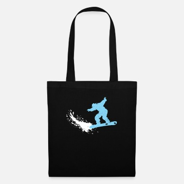 Deep Snow Snowboarder in deep snow - Tote Bag