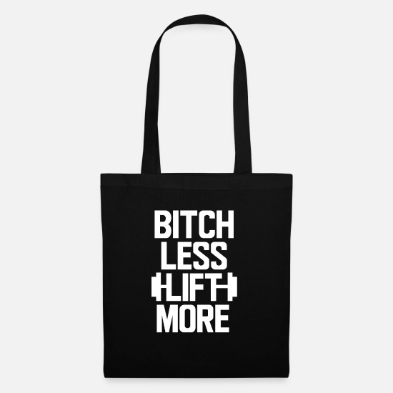Body Builder Bags & Backpacks - Bitch more muscle building bodybuilder gift - Tote Bag black