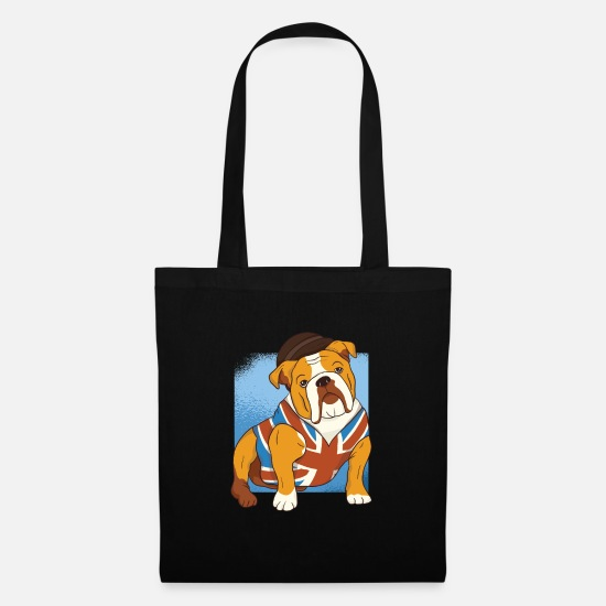 The British Empire Bags & Backpacks - British Bulldog - British Bulldog - Dog - Tote Bag black