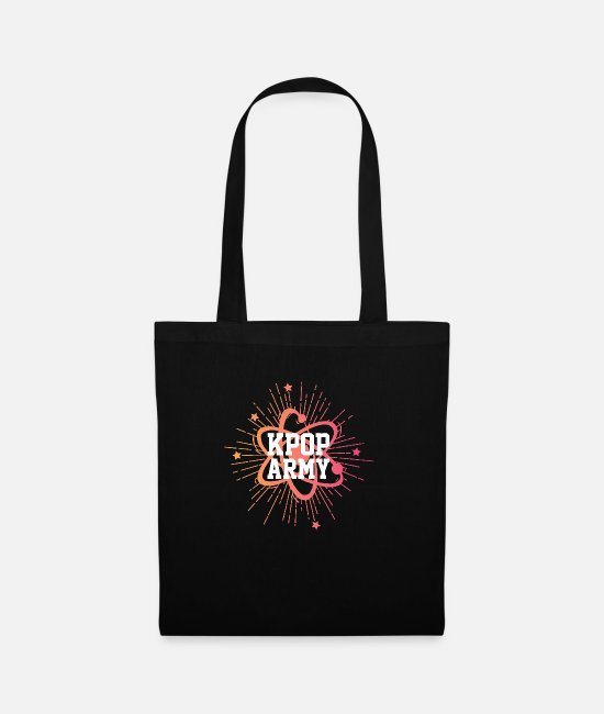 Animal Bags & Backpacks - K-Pop Army T-Shirt - Tote Bag black