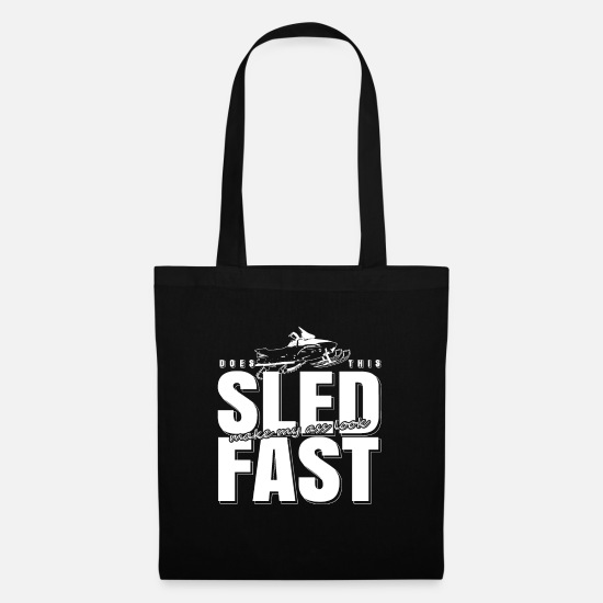 Gift Idea Bags & Backpacks - snowmobile - Tote Bag black