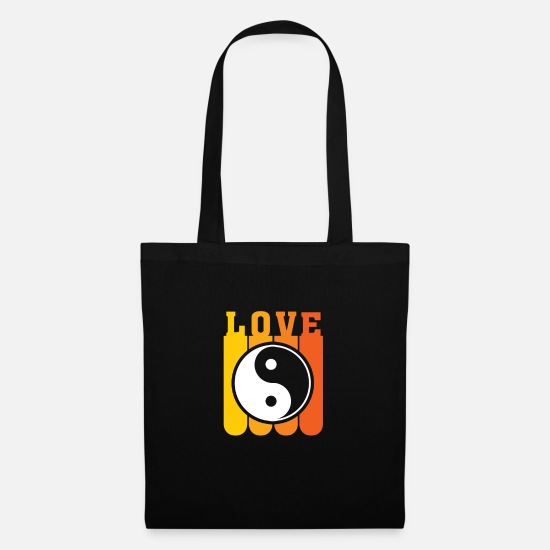 Love Bags & Backpacks - Yin Yang - Tote Bag black