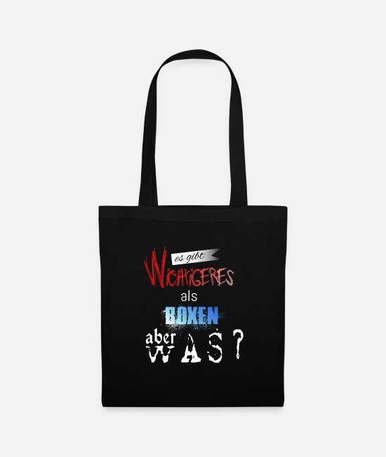 Fighter Bags & Backpacks - boxer - Tote Bag black