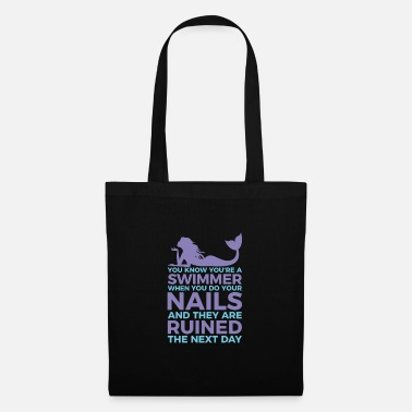 Swimmers nails ruined fun design. - Tote Bag