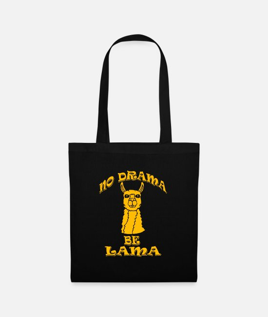 Drama Bags & Backpacks - No Drama Be Lama - Tote Bag black