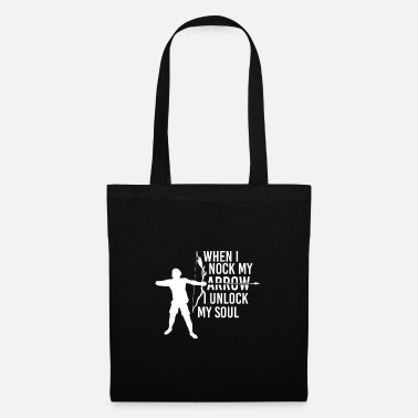 Recurve Archery arrow fan shoot sayings funny cool - Tote Bag