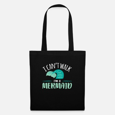 Cute Non posso camminare in un abito da sirena I Am Cute Beach - Borsa di stoffa