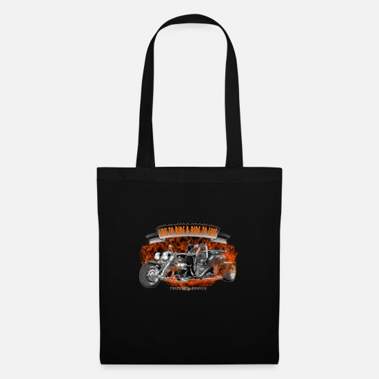 Birthday Bags & Backpacks - TRIKE KINGS / Hot Trike Halloween Design - Tote Bag black
