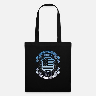 Official Police America USA Flag Country Gift - Tote Bag