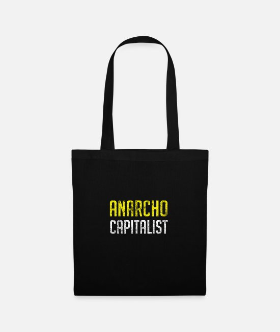 Libertarian Anarchy Bags & Backpacks - Anarcho Capitalist Libertarian Anarchist - Tote Bag black