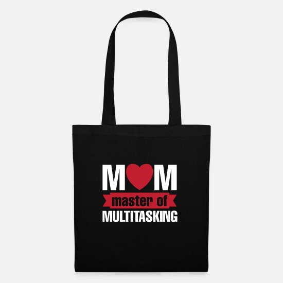 Mother's Day Bags & Backpacks - Gift for Mother's Mother's Day - Tote Bag black