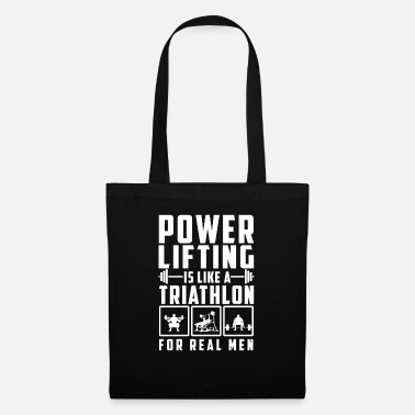 Power Lifting Power Lifting is als een triatlon-shirtgift - Stoffentas