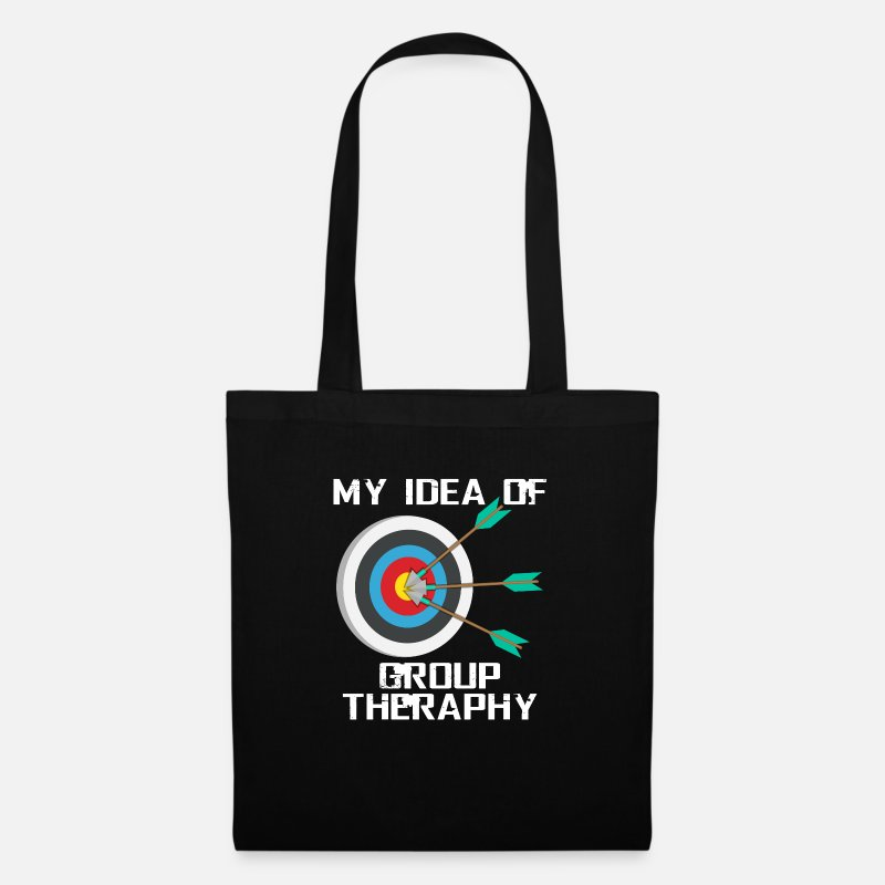 Group Bags & Backpacks - Archery therapy - Tote Bag black