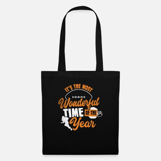 American Football Bags & Backpacks - Most wonderful time American football gift - Tote Bag black