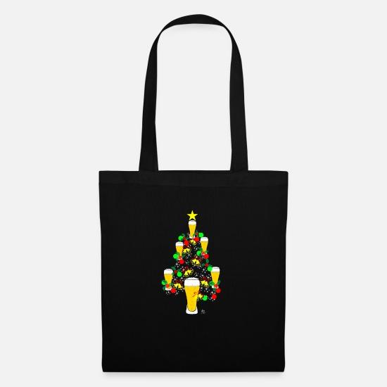 Bier Weihnachtsbaum.Weihnachtsbaum Bier Weihnachten Xmas Beer Geschenk Stoffbeutel