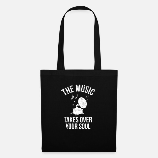 Bass Bags & Backpacks - Music soul I soul music old oldschool old - Tote Bag black