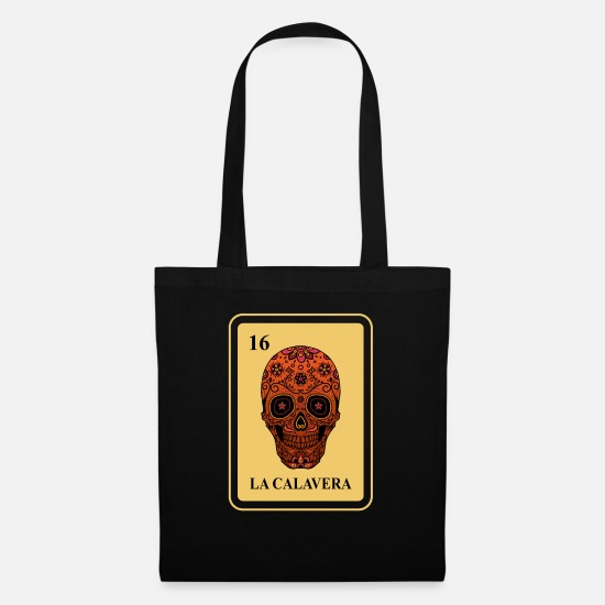 Carneval Bags & Backpacks - Mexican La Calavera Loteria Shirt - Tote Bag black