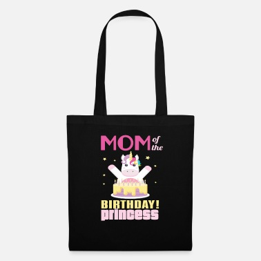 Birthday Mom Of The Birthday Princess Unicorn - Tote Bag