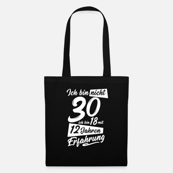 Gift Idea Bags & Backpacks - 30th birthday present - Tote Bag black