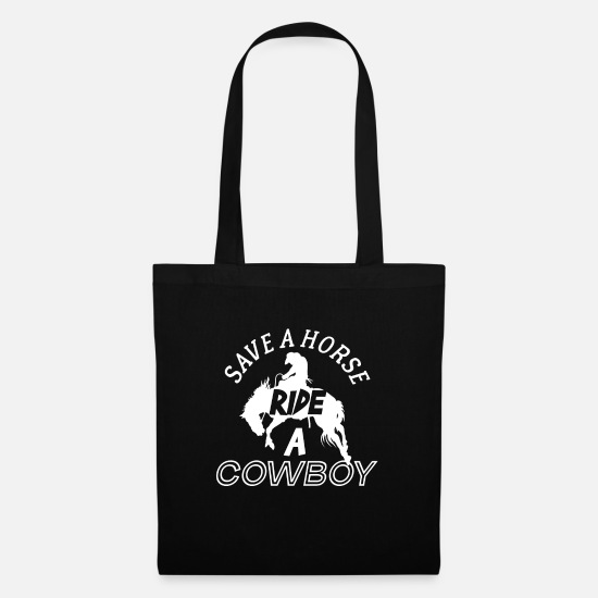 Single Bags & Backpacks - Save A Horse Ride A Cowboy - Tote Bag black