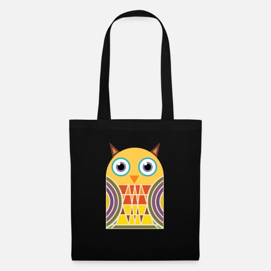 Mantra Tasker & rygsække - Night Owl Owl Uhu Retro Mandala Yogi Art - Mulepose sort